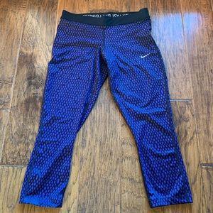 Nike Dri-Fit Leggings Size M Purple/Black